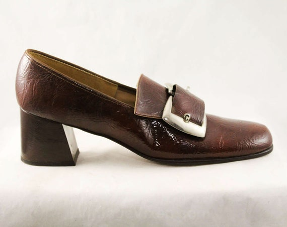 Size 6.5 Brown 60s Loafers - Never Worn 1960s Mod