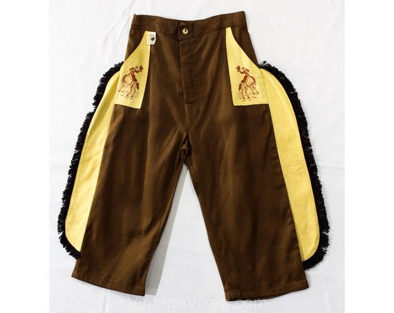 Child Size 10 1940s Cowboy Pants - Boys 40s 50s We