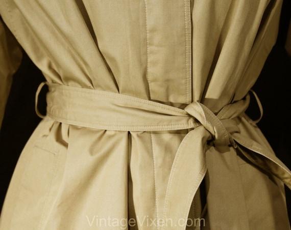 Size 12 Designer Trench Coat - 1980s Tan Cotton O… - image 3