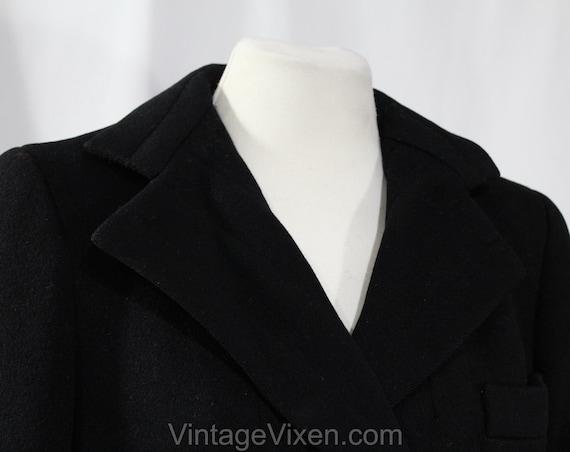 Size 10 Black Winter Coat - Elegant Designer 80s … - image 3