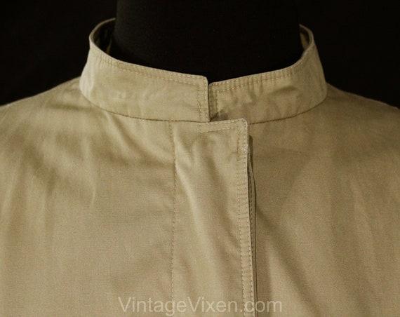 Size 12 Designer Trench Coat - 1980s Tan Cotton O… - image 4