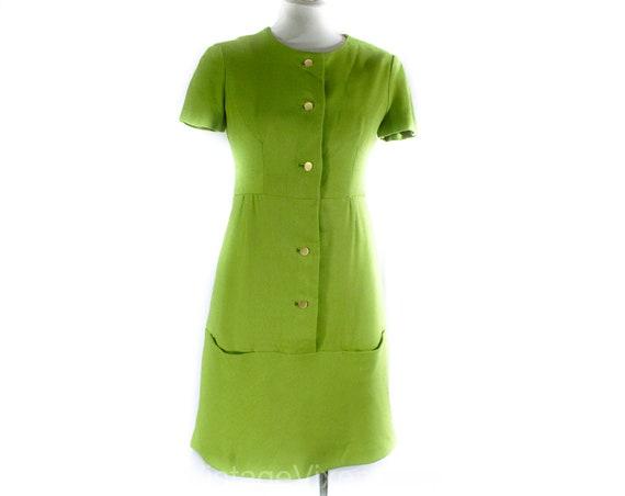 Size 2 Avocado Green Dress - Faux Linen Tailored 6