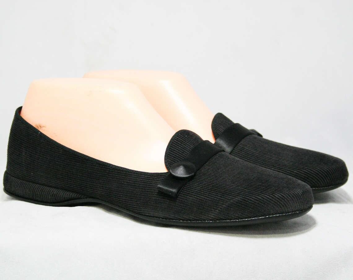 velours noir taille . pantoufles -  opéra satin chaussures -   /  - doublure satin opéra écarlate détails - que - - daniel Vert  - cheptel mort - 6d99fc