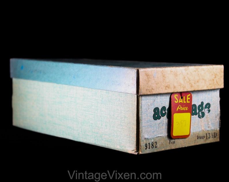Authentic Mod 1960s Girls Bright Vivid Vinyl Shoe Size 3 Girl/'s Mary Jane Orange Shoes Child Size 3B 60s Deadstock in Original Box NIB