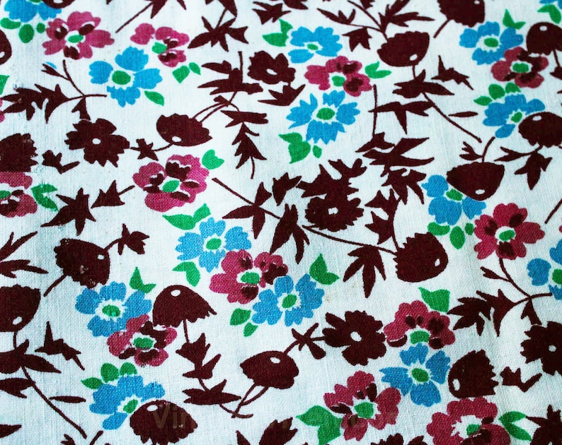 47553 1930s Feedsack Fabric Three Full Sacks Full 30s Grain Sack Panel Lot Deco Floral Cotton Each 37 x 41 Inches Of Fabric