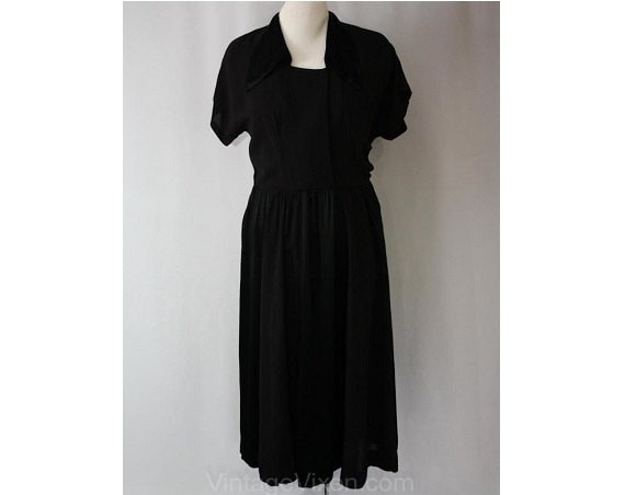 1940s amp; 30 1 Evening Style Wartime Waist Doll Dress Crepe Hollywood Large Satin Era Black 42 36586 Satin 12 Bust Size Old 1wtYnqgxp