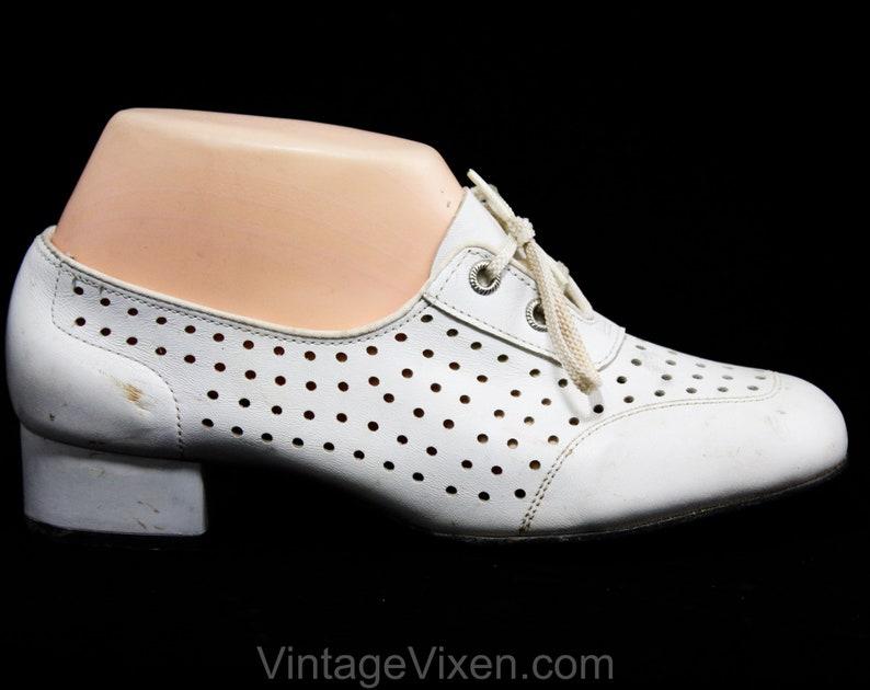 5f92937a549c47 Wie ist Größe 6.5 1960er Jahre Schuhe nie getragen weiß Mod