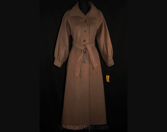 33 Dusky Wool Original Coat Sophisticated Deadstock Size Quality Price High Fall Bust 1970s Tag Brown 1 33668 Overcoat 225 4 XgqTS