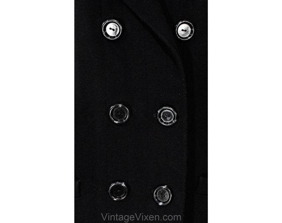 Size 10 Black Winter Coat - Elegant Designer 80s … - image 4