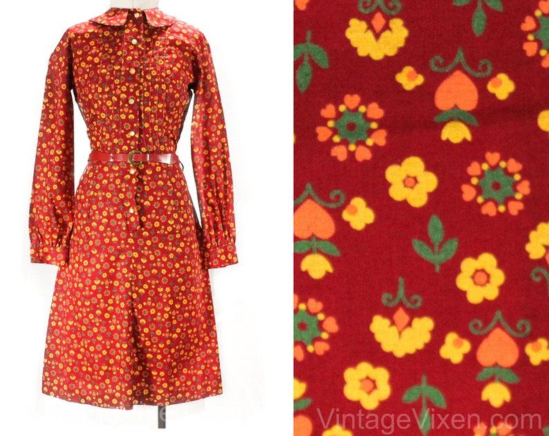 280c692840e61 Taille 12 rouge floral robe de la jeune fille-coeurs et fleurs