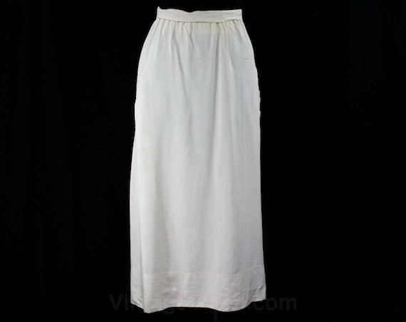 Size 14 Antique Ivory Day Skirt - 1910s Summer Wei