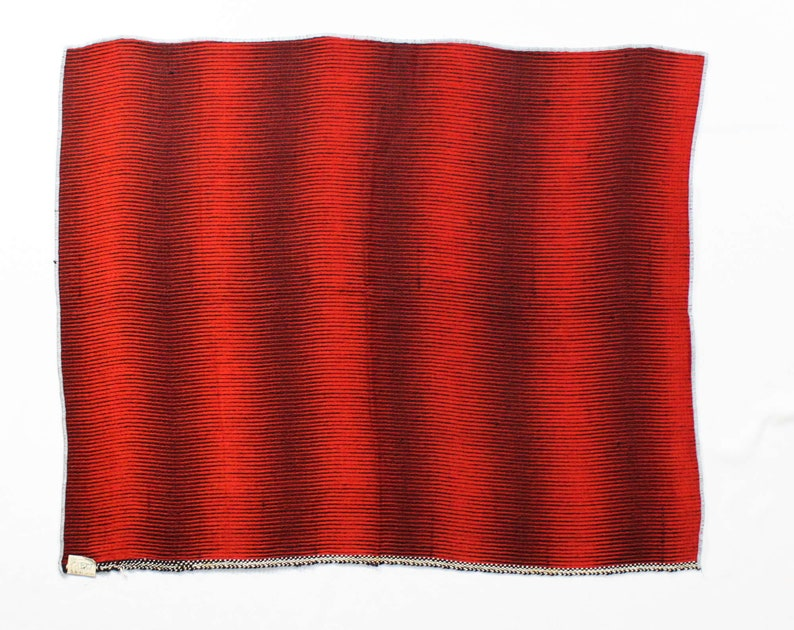 1950s Red Brocade Fabric Upholstery Fabric Salesman Sample Yardage 50s Mid Century Optical Effect Scarlet /& Black 1 Yards x 28 Inches