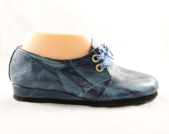baskets Sneaker cuir bleu chaussures stock d s Casual 7 70 neuf Taille RqFwHF