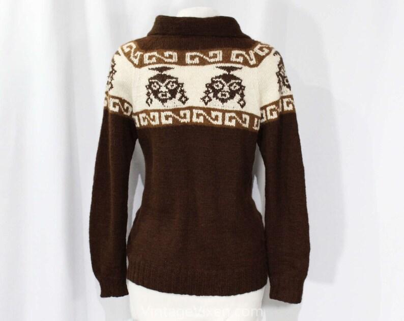 95aa4e38d0b Size 6 Alpaca Cardigan Chocolate Brown Luxury Knit Made in
