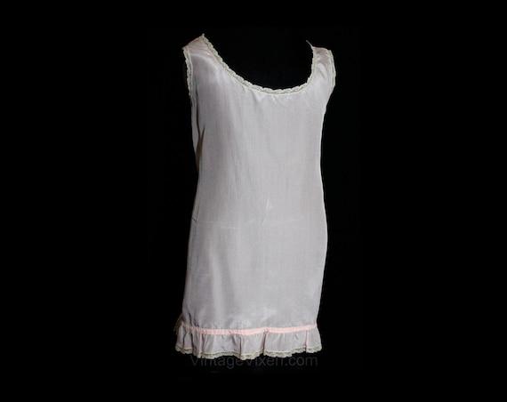 20s Baby Girls Summer Slip - 1920s 30s Pink Crepe