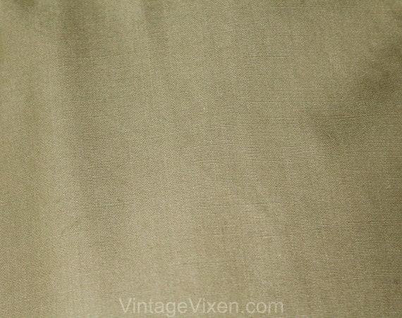 Size 12 Designer Trench Coat - 1980s Tan Cotton O… - image 6