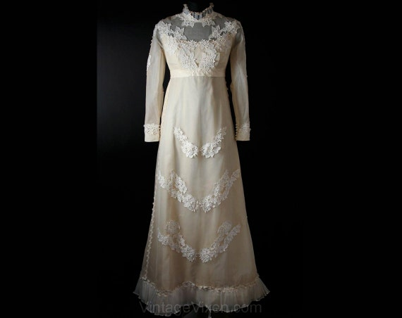 Ecru Style Small Gibson 5 Dress Train Antique Style 32 Girl 4 34146 Size NOS Bust Convertible Net with Dress Gown Wedding Bridal qwSY4nxBX