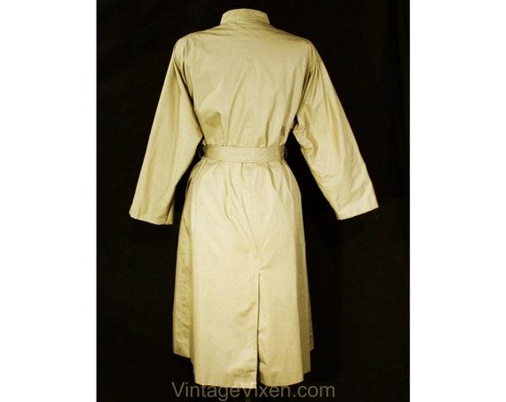Size 12 Designer Trench Coat - 1980s Tan Cotton O… - image 8
