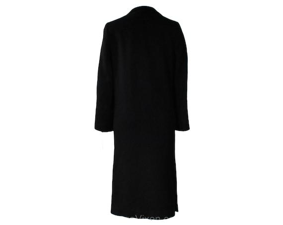 Size 10 Black Winter Coat - Elegant Designer 80s … - image 6