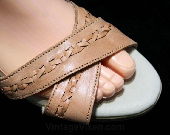 Sandal Spots 2 5 6 Sandals Tan M Leather 44536 6 Size Summer 1980s 1 2 Unworn Deadstock Criss Softspots Shoes Soft Cross 71wHx6Sq