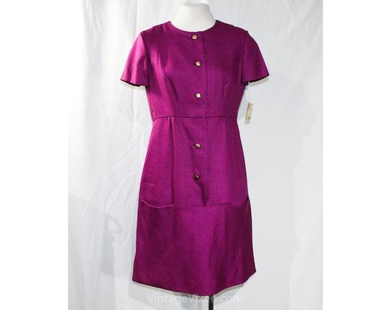 Size 8 Orchid Purple Dress - Pure Linen Tailored 6