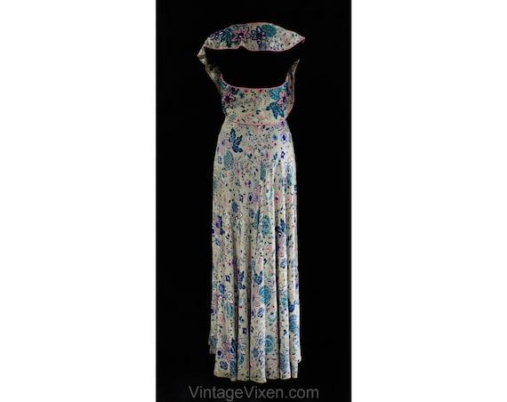 Size 6 1930s Evening Dress - Gorgeous 30s 40s Gra… - image 9