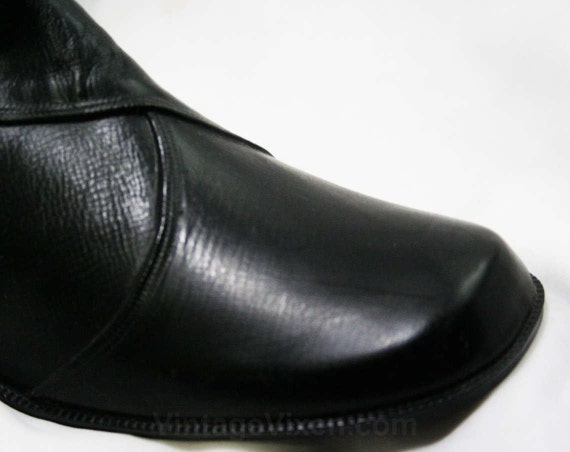 Fleece Rain 1960s Dears Lined Early 10 Winter Boots Authentic Buckle Vinyl 43246 Waterproof Faux Size 60s Deadstock Black zq6vA