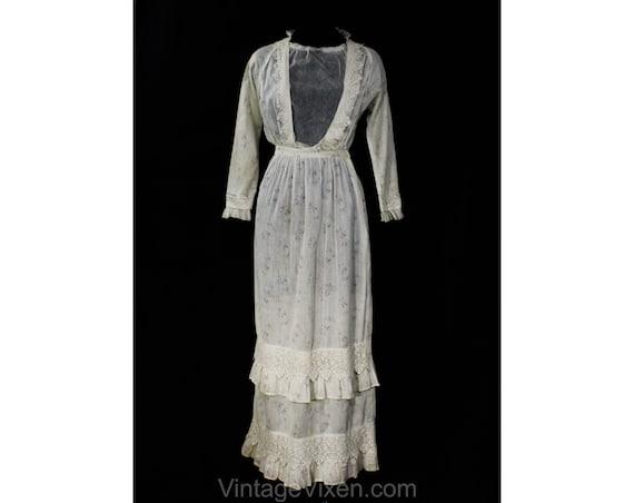 Antique 1900s Dress - XS Winsome Wearable Edwardia