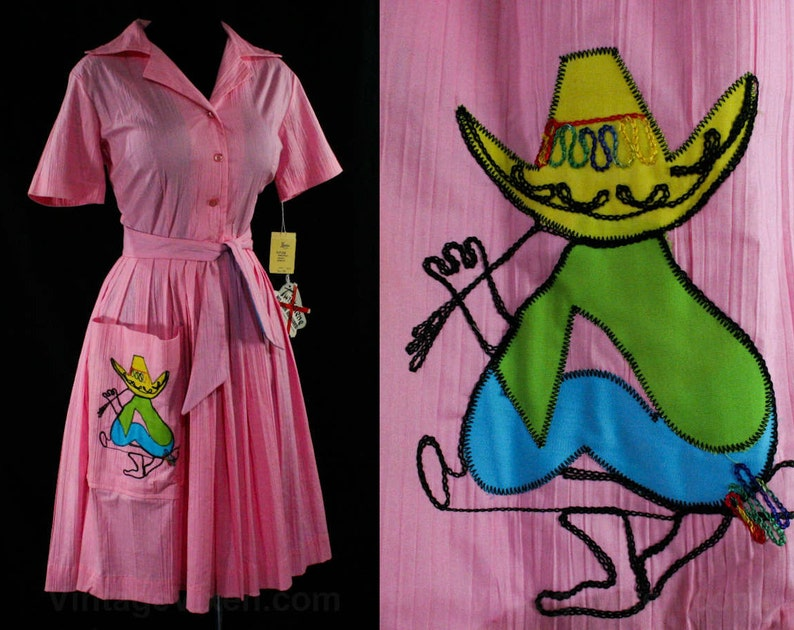 503b2b375c563 Size 4 Pink Dress Rockabilly 1960s Shirtwaist Fitted   Etsy