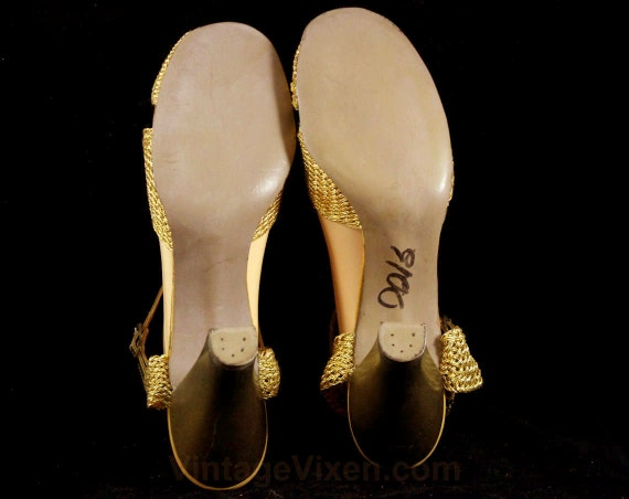 a738374d5c851 47098 5 Style Toe Glamour 5 Size Gold 50s Sandals Hollywood Evening ...