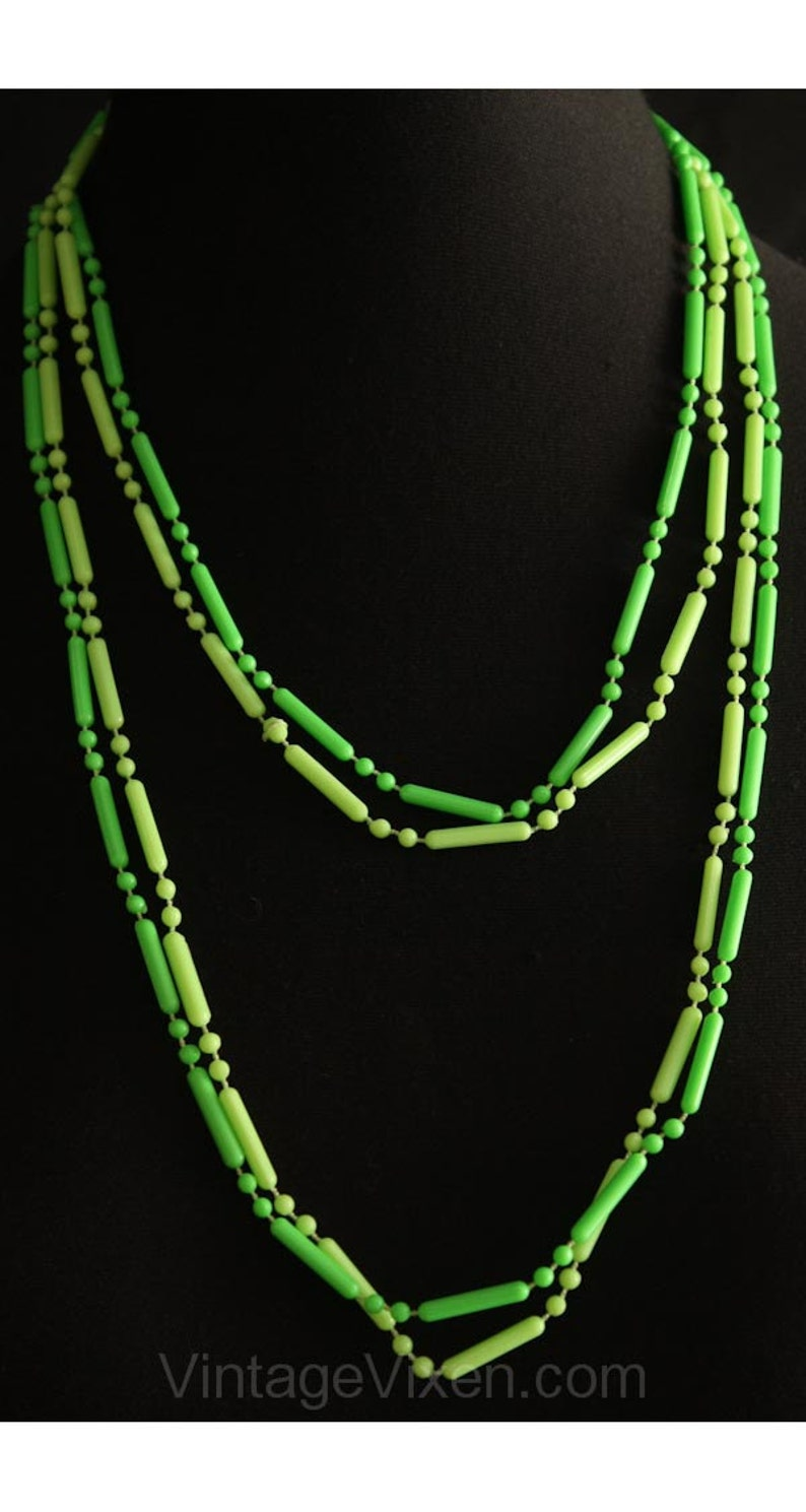 Mint Condition Spring Green Pastel Blue Plastic Pop Style 1960s Lime /& Sky Blue Necklaces 60s Layered Trendy Cute Necklace 34883-1