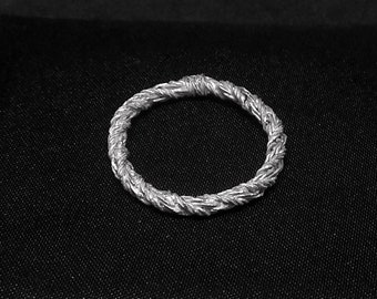 Rope texture ring, Silver ring, Gold rope ring, Silver rope ring, Wedding band ring, Artisan ring, Man ring, Unisex ring, unisex silver