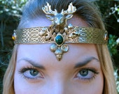 Stag and Acorn Circlet He...