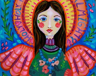 Folk Art Angel Mixed Media