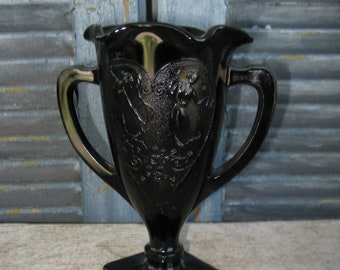 antique LE Smith ebony dancing nymph vase 1930s
