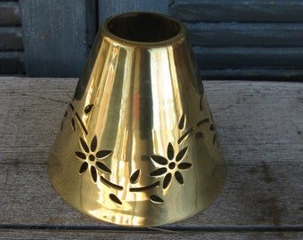 e47b017d97e vintage brass lamp shade smaller size country modern farmhouse french  farmhouse replacement shade
