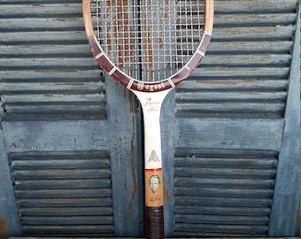 vintage Regent Jaguar Don Budge wood tennis racket man cave game room decor