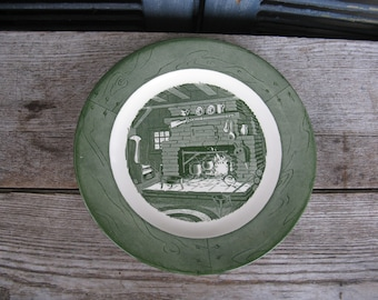 vintage Royal Colonial Homestead dinner plates set of 7 1950s china rustic country farmhouse