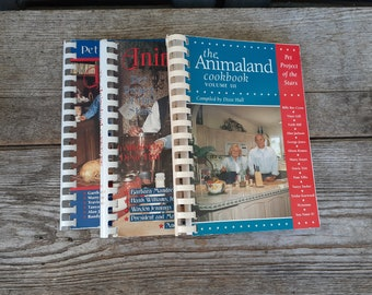 vintage The Animaland Cookbook Collection Volumes 1 thru 3 Country Music Cookbook