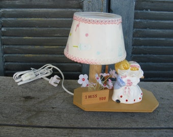 vintage bride and groom novelty lamp new old stock