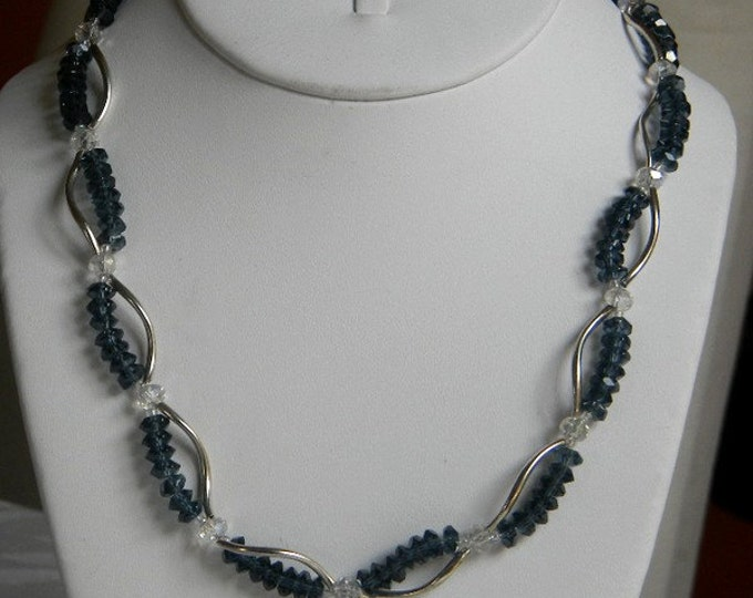 Montana Blue Crystal Twist Necklace