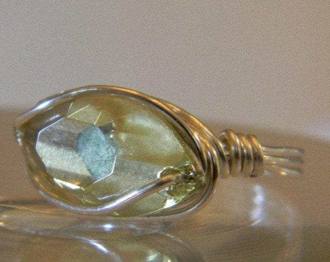 Swarovski Jonquil Crystal Navette Ring