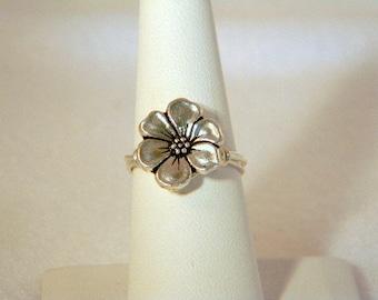 Silver Flower Ring, Silver Ring, Flower Ring,