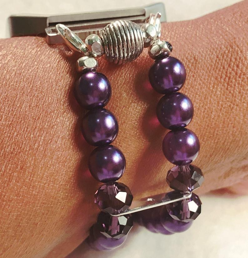 FITBIT Blaze Watch Band for Fitbit Blaze Purple Pearls Watch image 0