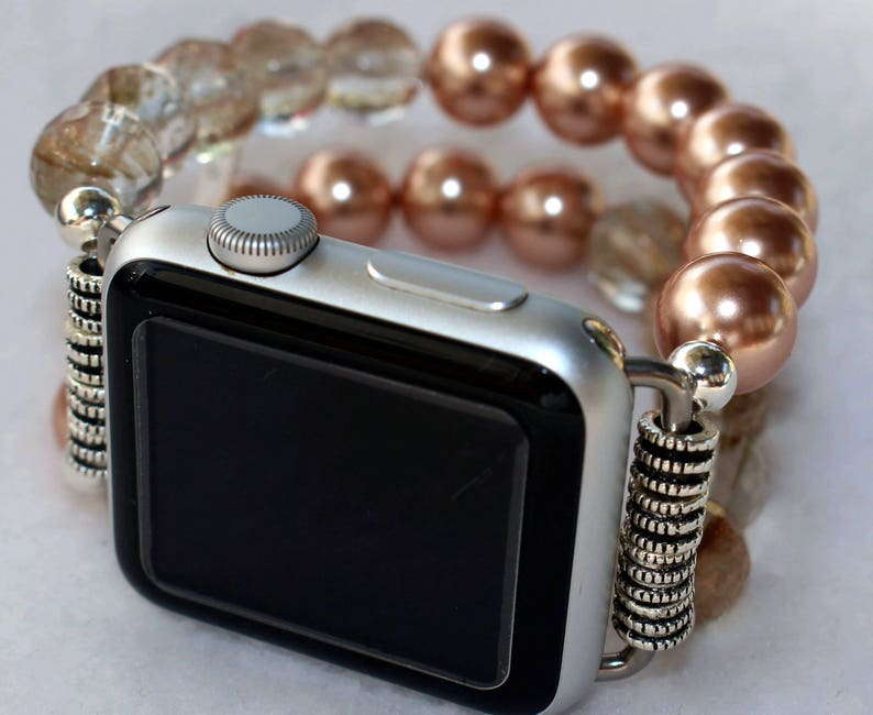 Apple Watch Band Watch Band for Apple Watch Rose Pearls image 0
