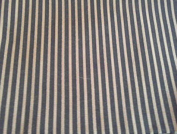 Black With Gold Stripes Home Decor Fabric 1 Yard X1115 Etsy