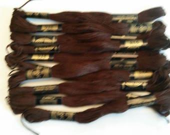 Dark Brown DMC Embroidery Thread 938 10 Skeins ET0114