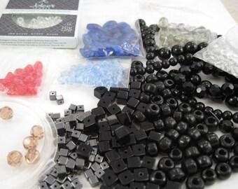 Glass Beads & Swarovski Beads - FREE SHIP - Assorted Destash