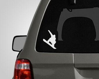 Snowboarder Decal - Snowboarding Sticker - Snowboarder Sticker - Vinyl Car Decal BAS-0186