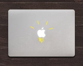 Light Bulb Vinyl MacBook Decal BAS-0156